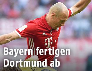 Szene aus dem Match Bayern gegen Dortmund
