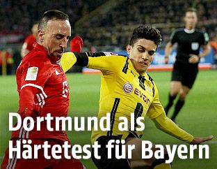 Franck Ribery (Bayern) und Marc Bartra (Dortmund)