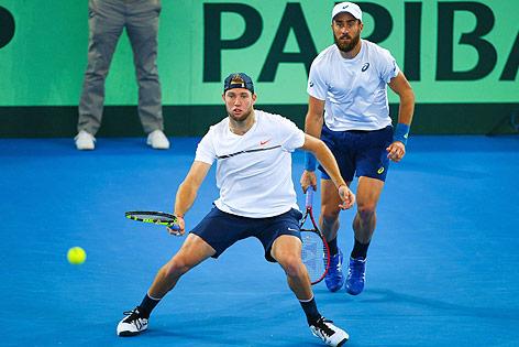 Die US-Davis-Cup-Spieler Steve Johnson und Jack Sock