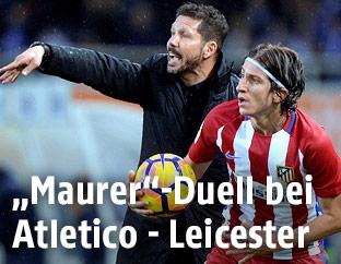 Atletico-Coach Diego Simeone und Filipe Luis