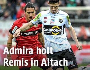 Toni Vastic (Admira) und Benedikt Zech (Altach)