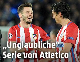 Saul Niguez und Stefan Savic (Atletico)