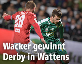 Milan Jurdik (Wattens) und Sebastian Siller (Wacker)