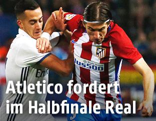 Zweikampf zwischen Atletico und Madrid
