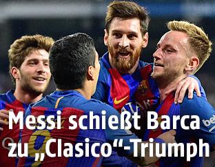 Jubel der Barcelona-Spieler