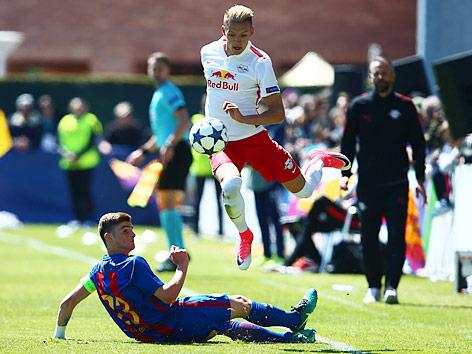 Hannes Wolf (Salzburg) und Eric Montes (Barcelona)