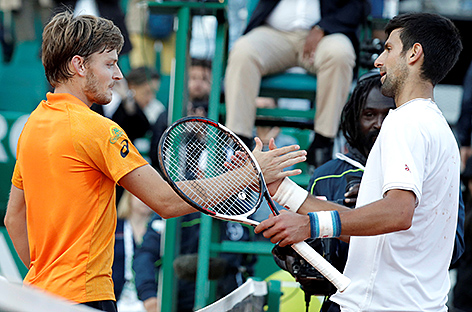 David Goffin und Novak Djokovic