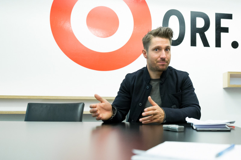 Marcel Hirscher beim ORF.at-Interview