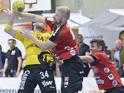Tobias Varvne (Bregenz), Anton Prakapenia and Thomas Kandolf (beide Tirol)