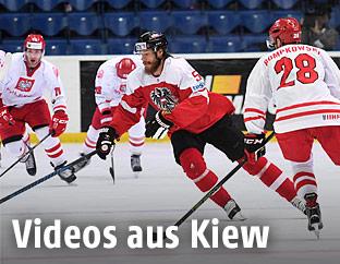 Spielszene aus Österreich gegen Polen