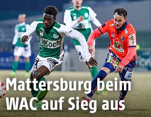 David Atanga (Mattersburg) und Christian Klem (WAC)