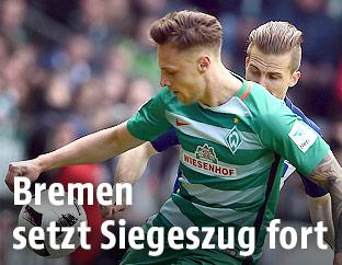 Robert Bauer (Werder) und Peter Pekarik (Hertha)