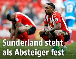 Spieler von Sunderland trauern
