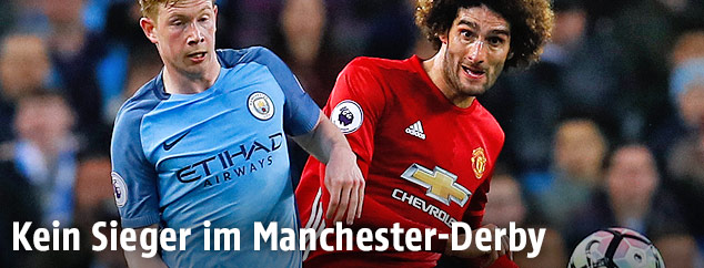 Kevin De Bruyne (Manchester City) und Marouane Fellaini (Manchester United)