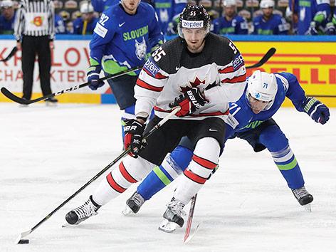 Zweikampf zwischen Kanada und Slowenien