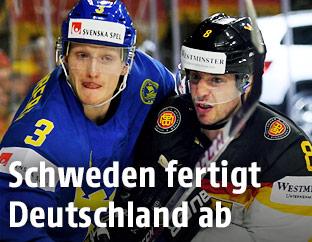 John Klingberg (Schweden) gegen Tobias Rieder (Deutschland)