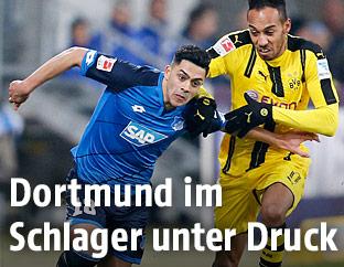 Nadiem Amiri (Hoffenheim) gegen Pierre-Emerick Aubameyang (Dortmund)