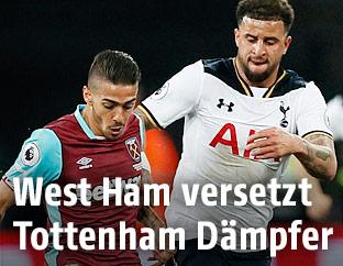 Manuel Lanzini (West Ham) und Kyle Walker (Tottenham)