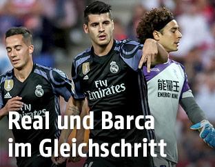 Jubel von Alvarao Morata (Real Madrid)