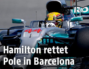 Lewis Hamilton im Spanien-Qualifying