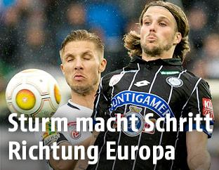 Philipp Netzer (Altach) und Philipp Zulechner (Sturm Graz)