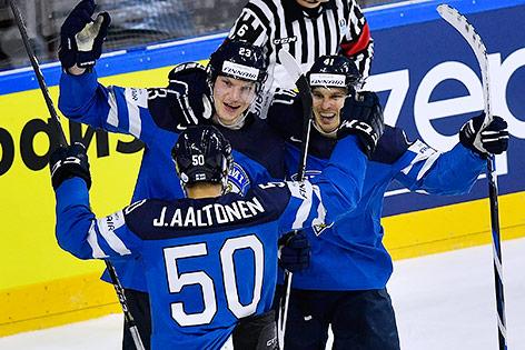 Joonas Kamppainen, Antti Pihlstrom und Juhamatti Aaltonen
