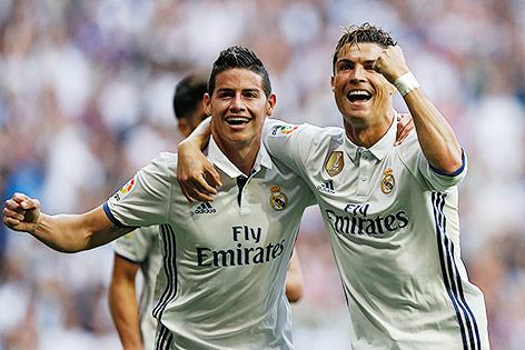 Cristiano Ronaldo und James Rodriguez (Real)