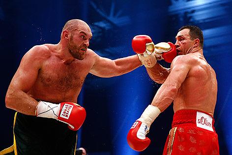 Tyson Fury und Wladimir Klitschko