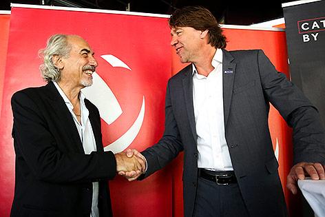 Peter Kleinmann (OEVV) und Hannes Kronthaler (Hypo Tirol)