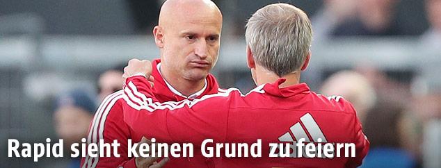 Goran Djuricin (Rapid) und Martin Bernhard (Rapid)
