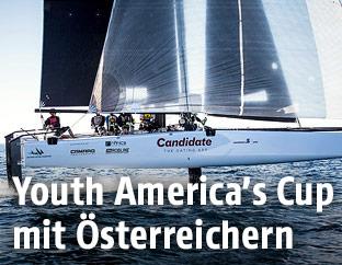 """Das Boot des österreichischen """"Candidate Sailing Team"""""""