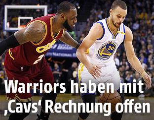 LeBron James und Stephen Curry