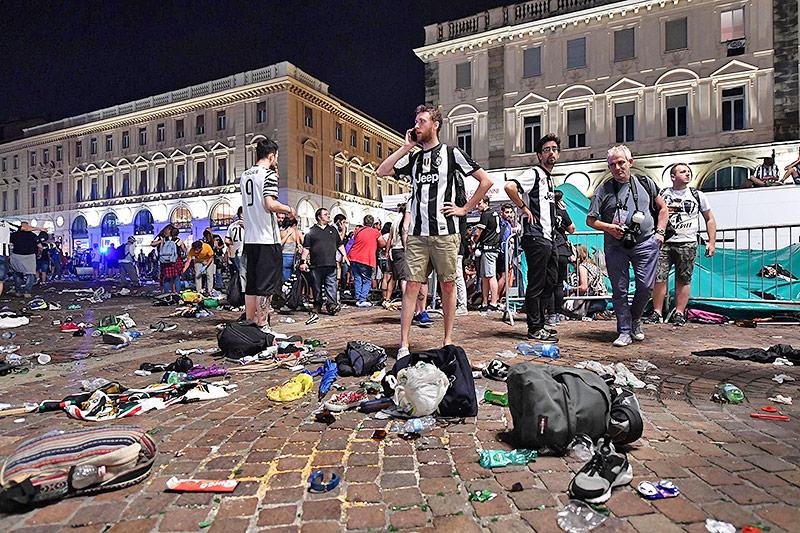 Panik beim Public Viewing in Turin