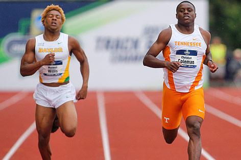100-Meter-Lauf von Maxwell Willis und Christian Coleman