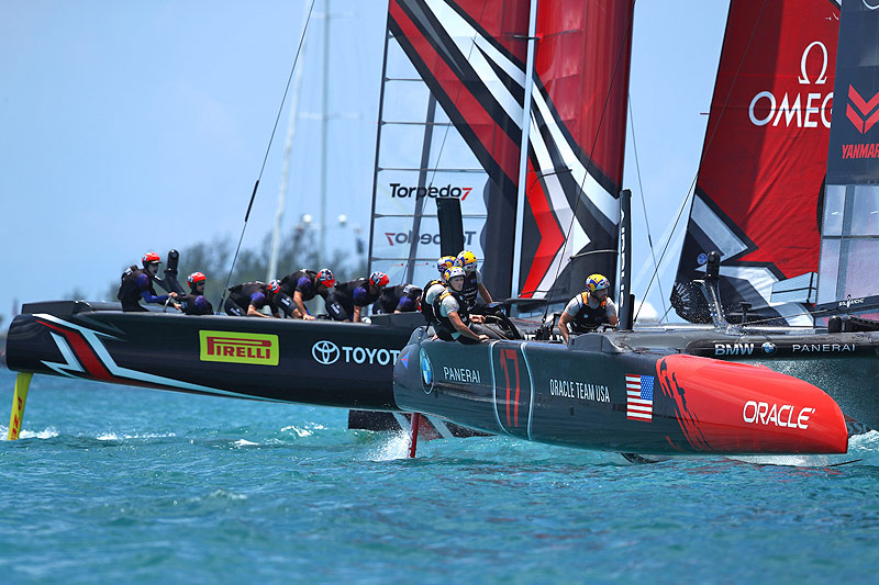 Oracle Team USA gegen Emirates Team New Zealand