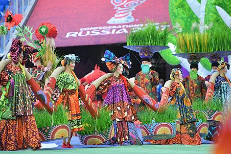 Eröffnungsfeier des Confederations Cups in St. Petersburg