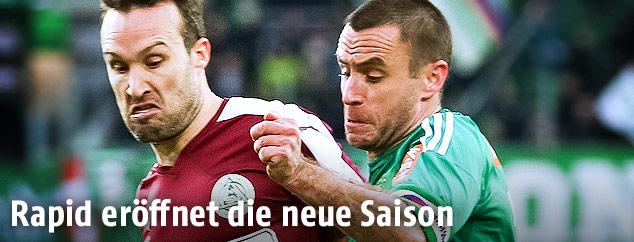 Cesar Ortiz (SVM) gegen Steffen Hofman (Rapid)