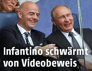 FIFA-Chef Gianni Infantino und Russlands Präsident Wladimir Putin