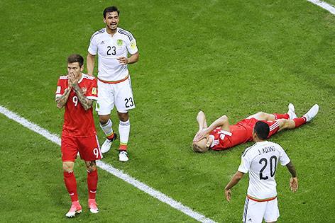 Russland nach Niederlage gegen Mexiko out