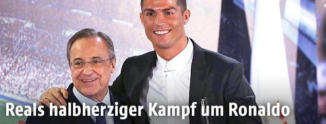 Real-Madrid-Präsident Florentino Perez und Cristiano Ronaldo