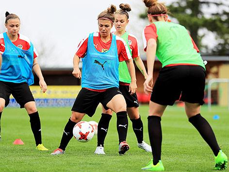 ÖFB-Damen beim Training