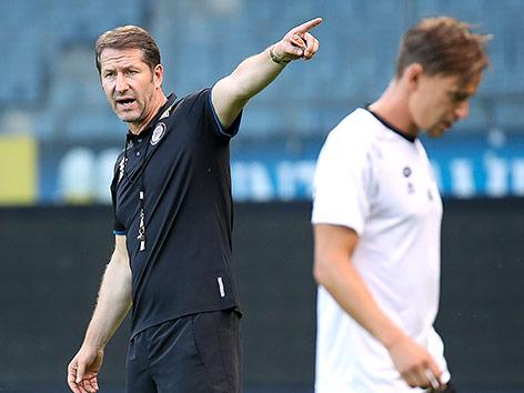 Sturm-Trainer Franco Foda und Stefan Hierländer