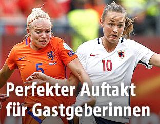 Kika van Es (Niederlande) und Caroline Graham Hansen (Norwegen)