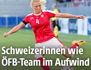 Die Schweizer Teamspielerin Rachael Rinast