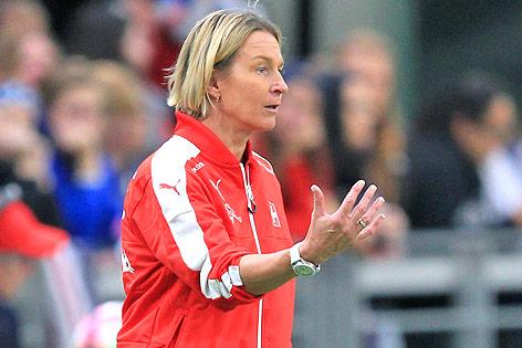 Die Schweizer Teamchefin Martina Voss-Tecklenburg