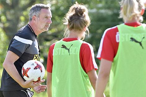 ÖFB-Teamchef Dominik Thalhammer beim Training