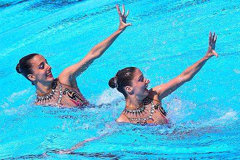 Synchronschwimmerinnen Anna-Maria und Eirini Alexandri