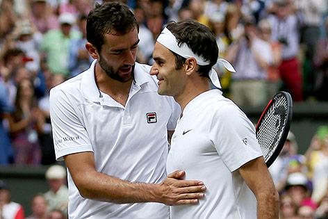 Roger Federer und Marin Cilic