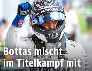 Valtteri Bottas (Mercedes) mit geballter Faust