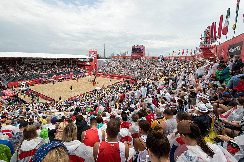 Stadion der Beachvolleyball-WM
